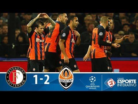 Melhores Momentos - Feyenoord 1x2 Shakhtar Donetsk - Champions League (17/10/2017)