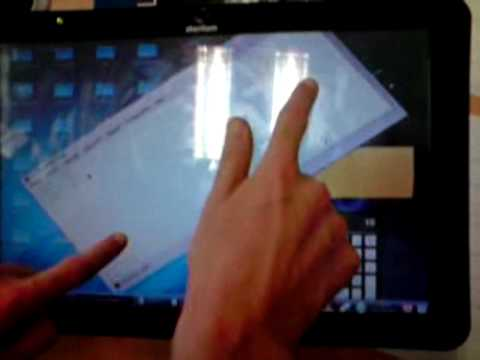 This video shows some action made using a multitouch capable tablet.