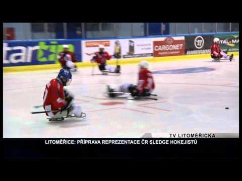 LITOMĚŘICE: Příprava reprezentace ČR ve sledge hokeji (TV Litoměřicka)