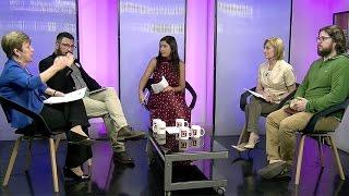 Josefa Errázuriz, Evelyn Matthei, Ivo Vukusich y Sergio Gómez, expusieron sus ideas y debatieron en torno al futuro de la comuna.