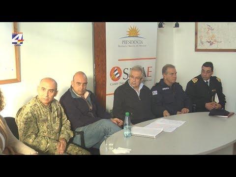 Ministro de Defensa Nacional visitó Paysandú en el marco de una recorrida por la zona afectada por la creciente
