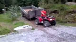 9. Honda trx 300 big red pulling tractor trailer