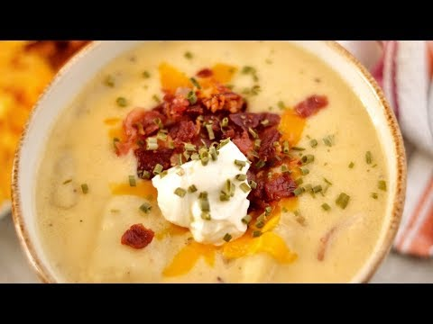 THE BEST LOADED POTATO SOUP RECIPE!