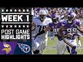 Vikings vs. Titans | NFL Week 1 Game Highlights