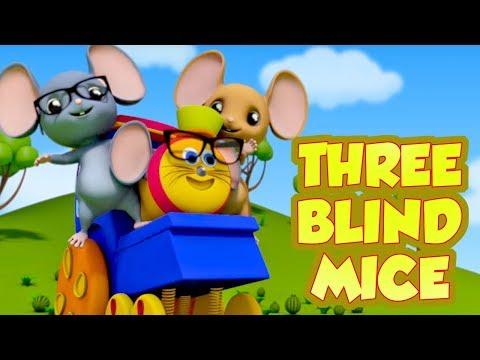Bob den Zug drei blinde Mäuse - beliebtes Deutsch Reim   ein Lehrvideo für Kinder