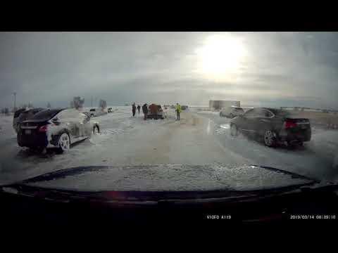 Colorado Blizzard Aftermath - Woodmen Road Dashcam Footage