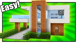 How to Build a Modern House in Minecraft - Simple & Easy Tutorial + interior