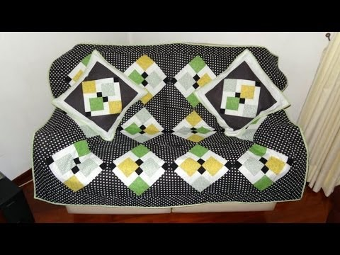 patchwork - how to make a quilt for the sofa