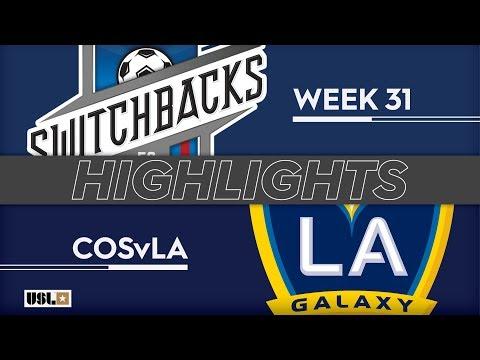 Колорадо Спрингс - LA Galaxy 2 2:0. Видеообзор матча 06.10.2019. Видео голов и опасных моментов игры