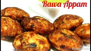 Instant Rawa Appam Recipe/ Veg Rawa Appam Recipe/South Indian Food Recipe/ Vegan Recipe/Appam Recipe quick snacks recipes