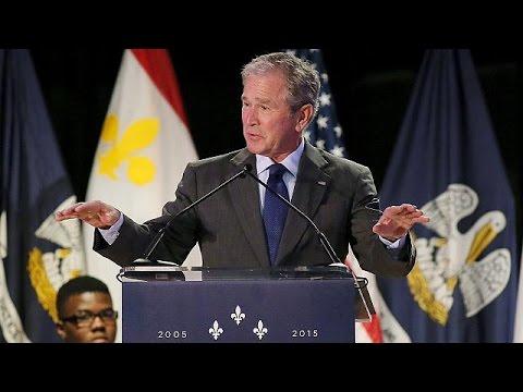 Ν.Ορλεάνη: Επέστρεψε στον τόπο της καταστροφής ο τότε πρόεδρος Μπους