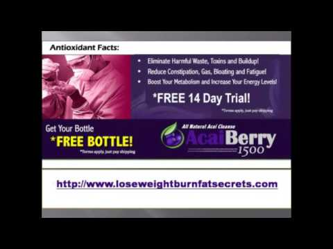 Lose Weight Burn Fat Secrets Acai Berry Cleanse Diet