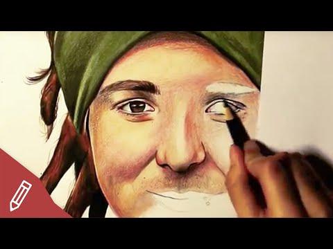 SPEED DRAWING: Simon Unge / Ungespielt – REALISTIC PENCIL PORTRAIT | Zeichnen Mit Buntstiften