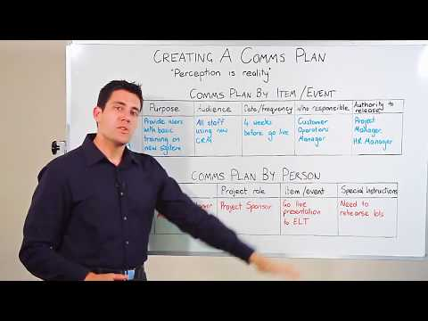 Creating a Communications Plan Video