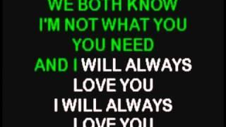 Whitney Houston - I Will Always Love You (Karaoke) (NO BGV)