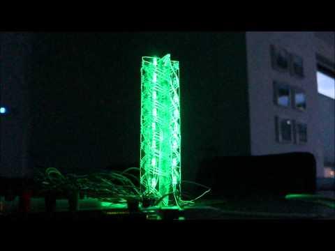 Final 4x8 MUXed MAX7219 RGB Led Tower