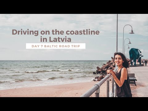 Driving on the coastline of the Baltic Sea in Latvia - Baltic road trip Day 7 vlog