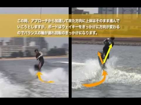 wakeboard(尾波滑水)教室7