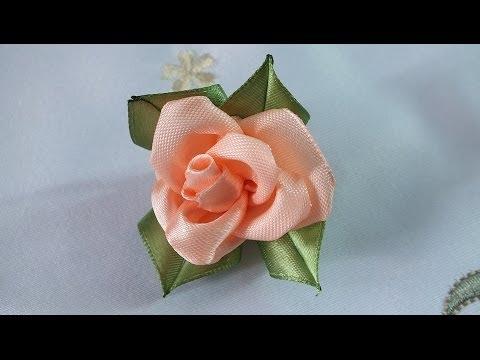 Цветы из лент своими руками быстро