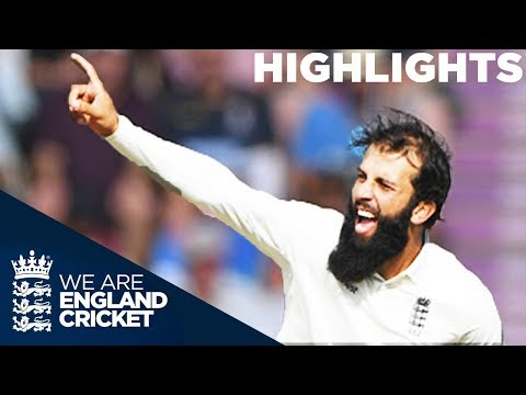 Moeen Takes 5-63 Despite Pujara Century | England v India 4th Test Day 2 2018 - Highlights (видео)