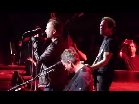 Pearl Jam and Sting Perform