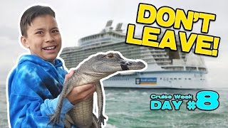 GATORS IN THE WATER!!! Nintendo Switch at the Airport! GRAND FINALE! [CRUISE WEEK DAY 8]