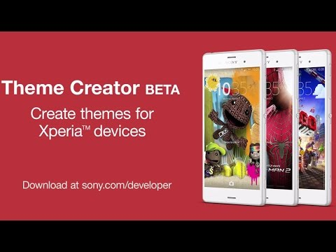 Design themes for Xperia devices with the new Theme Creator BETA tool