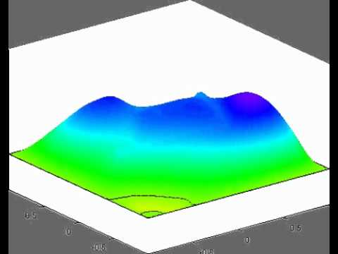 Wave equation, high conductivity channel 2,  reduced basis solution