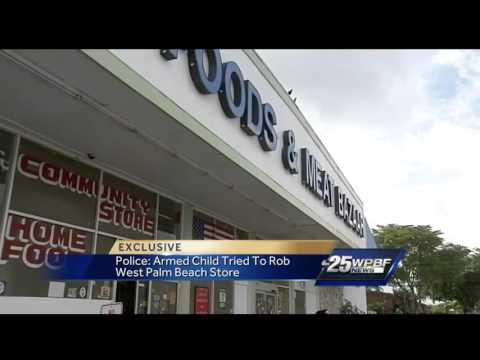 8 Year Old Steals Mom's Gun & Attempts To Rob A Store In West Palm Beach