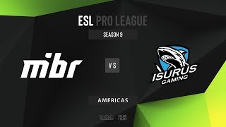 MIBR vs Isurus -  ESL Pro League Season 9 - NA - map1 - de_dust2 [SSW & MintGod]