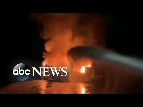 30 people missing after boat catches fire | ABC News