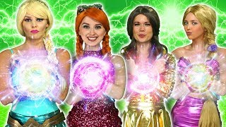 Video DISNEY PRINCESS MAGIC SUPERPOWERS. (Rapunzel, Elsa, Belle, Tiana, Anna vs Maleficent and Gaston) MP3, 3GP, MP4, WEBM, AVI, FLV Juni 2019