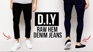 Video HOW TO: RAW HEM JEANS (CROPPED CUT JEANS) DIY TUTORIAL   JAIRWOO MP3, 3GP, MP4, WEBM, AVI, FLV Maret 2019