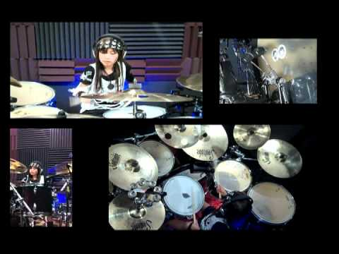 Poker face drum cover