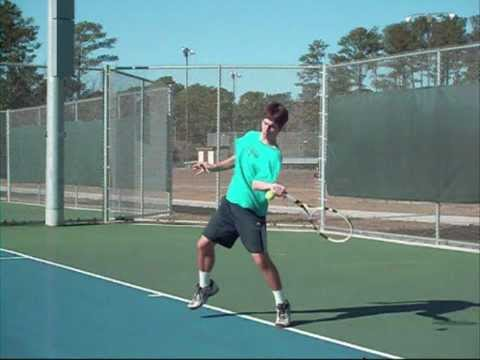 How to hit an Open Stance Forehand Advanced Players Tennis