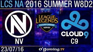 EnVy vs Cloud9 - LCS NA Summer Split 2016 - W8D2