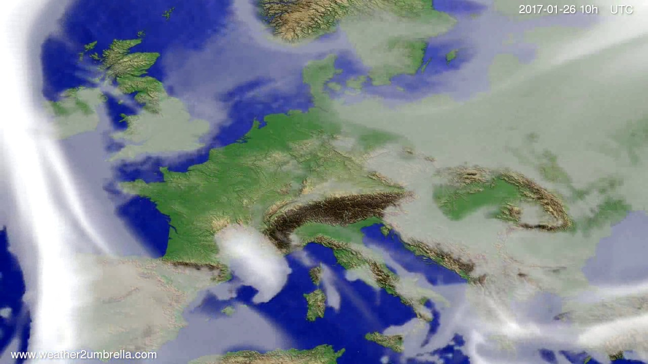 Cloud forecast Europe 2017-01-24