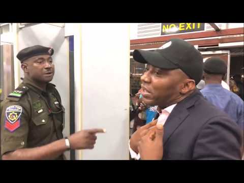 Download Sowore (Throwback Vid) Security Agents refuse Display Posters Of #Sowore2019 at Airport