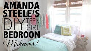 DIY Teen Girl Bedroom Makeover with Amanda Steele