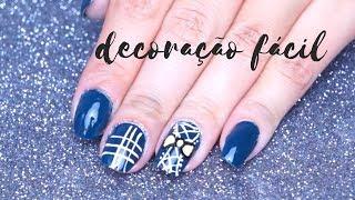 Aulas de manicure - Unhas decoradas fácil ESPARTILHO passo a passo AULA 16(manicure iniciante)
