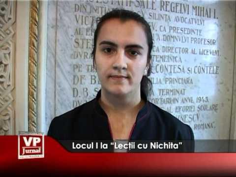 """Locul I la """"Lecţii cu Nichita"""""""
