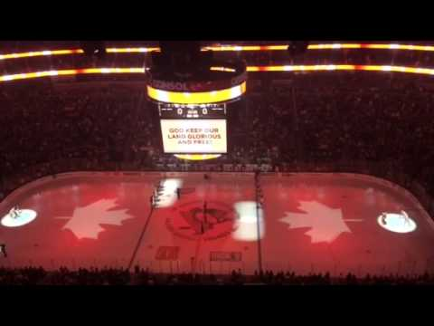 O Canada sung at Philadelphia Flyers/Pittsburgh Penguins game