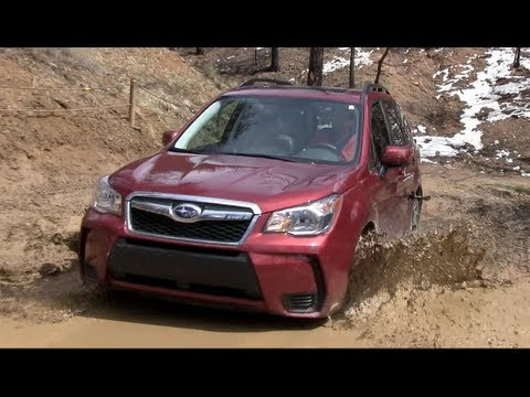 2014 Subaru Forester XT Muddy Off-Road Drive & Review (видео)