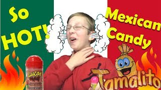 HOTTEST CANDY EVER!! MEXICAN CANDY TASTE TEST REVIEW!!  SUBSCRIBE!!  http://bit.ly/2cdp2ZtSubscribe to CollinTV Gaming: http://www.youtube.com/channel/UCqME2...Instagram : https://instagram.com/official_collintv/CollinTV is a fun, family oriented Youtube channel. If you like videos on food challenges, taste tests , recipes, candy reviews,  cool toys, vlogs, and many other fun ideas....this is the perfect channel for you. Don't forget to subscribe! Thanks!Feel free to email CollinTV at: CollinsTVShow@gmail.comSend Fan Mail to:CollinTV4000 W 106th St #125-153Carmel, IN 46032Music by Epidemic Sound