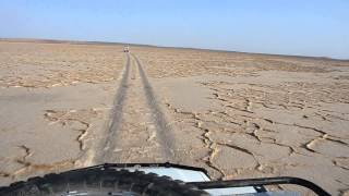 Driving through the Danakil Desert, Ethiopia