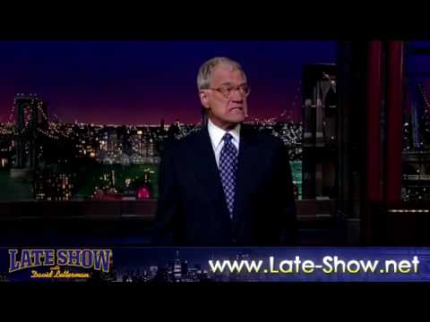 David Letterman Monologue 8/26/2009  HQ VIDEO