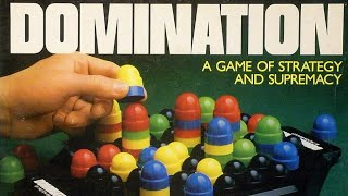 A review on how to play the board game Domination, formally known as Focus, which was created in 1963.Focus (or Domination) is a Sid Sackson abstract strategy game in which players attempt to make moves and capture pieces in such a manner that their opponent(s) have no moves remaining.On a turn a player may move a piece or stack of pieces based on the number of pieces that comprise it as well as the number of pieces to be moved (e.g. 1-piece = 1 space, 3 piece stack = 3 spaces.) When a stack grows over five pieces, pieces from the bottom of the stack are removed to bring the stack back down to five. Pieces of a player's own color that are taken by that player are reserved to re-enter the game at a later time; pieces of the opponent's color are kept as captured. Reserved pieces can be entered on a turn in any space on the board in place of making a move of pieces; strategic use of reserved pieces can make the game by utilizing them to capture stacks controlled by opponent(s).Sackson includes the game In his 1969 book, A Gamut of Games. The book makes a reference to the Whitman Publishing Company production of 1965, along with reporting that the two-handed version was first described in the October 1963 issue of Scientific American Magazine.
