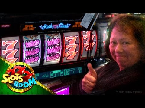 "JACKPOT !!! Rock around the Clock – 1c Konami Video Slots – ""San Manuel Sevens…"""