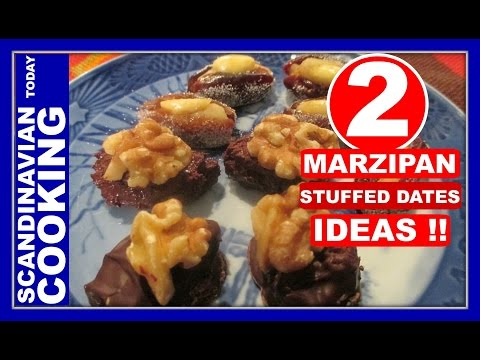 4 Ingredients  🎅 2 Easy Marzipan Filled Dates🎄 Christmas Candy Recipes (видео)