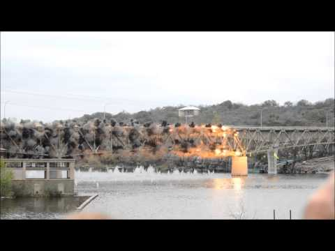 bridge - Demolition of the old US 281 bridge in Marble Falls Texas on the morning of March 17th 2013. Video shot with a Nikon D800 & 85mm prime. The